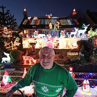 Pensioner vows to continue charity Christmas light display