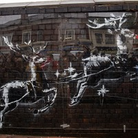 Banksy's reindeer get red noses as mystery artist gets creative with new mural