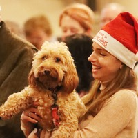 Dogs pack Christ Church Cathedral for annual dog carol service