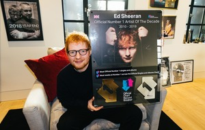 Ed Sheeran named number one artist of the decade