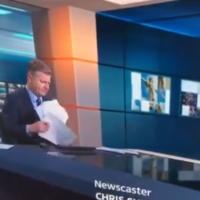 ITV presenter goes viral after awkward paper shuffle