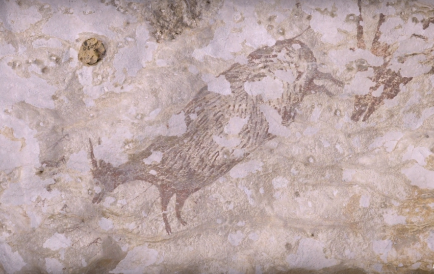 Year-old hunting scene uncovered by archaeologists is oldest storytelling art