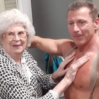 Pensioner 'loved every second' of stripper's visit to her care home