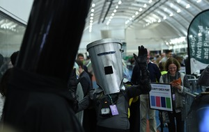 Political rivals Lord Buckethead and Count Binface clash in PM's constituency
