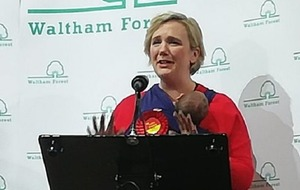 Newly re-elected Labour MP Stella Creasy joined by newborn daughter Hettie