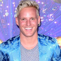 Jamie Laing reacts as his Strictly replacement Kelvin Fletcher wins series