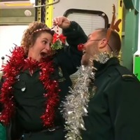 Ambulance station staff put on song and dance in cheerful Christmas video