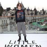 Timothee Chalamet sports Gorillaz t-shirt to Little Women photocall