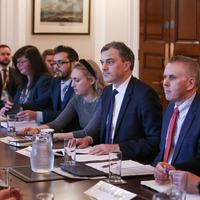 Sinn Féin claims Julian Smith left 'mid-way through' health crisis summit