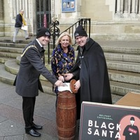 New Belfast lord mayor visits annual Black Santa charity sit-out