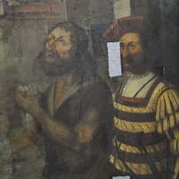 Sixteenth century nativity scene painting found hidden under other artwork