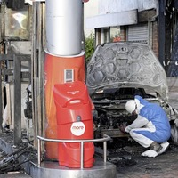 Firefighters avert 'disaster' after car set alight at petrol station
