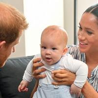 Harry, Meghan and Archie pictured on Christmas card