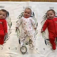 Parents of premature triplets celebrate first Christmas in new home