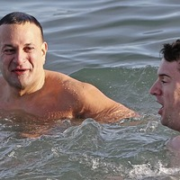 Leo Varadkar joins Christmas Day swimmers at Forty Foot