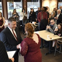 Couple marry at Dunkin' Donuts 30 years after breaking up at same store