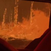 Firefighters film moment Australian bushfire overruns their truck