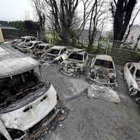 Arsonists set 15 cars alight