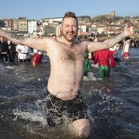 In Pictures: New Year swimmers take the plunge