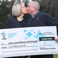 Lotto millionaires' 'dreams came true' after learning son is cancer free