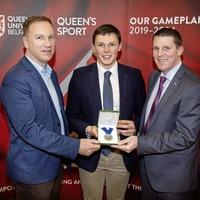 Armagh's Callum O'Neill receivea Cormac McAnallen Medal