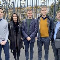 Third time lucky as Irish language group finally meet Julian Smith
