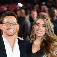 Stacey Solomon and baby son Rex cheer on Joe Swash during DOI debut