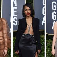 Best dressed stars flash the flesh on Golden Globes red carpet