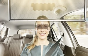AI-powered sun visor automatically protects driver's eyes from glare