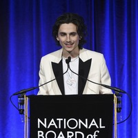 Timothee Chalamet debuts new facial hair at New York event