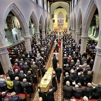 Bishop James Mehaffey was 'peacemaker', mourners told