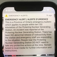 Alert about Canada nuclear plant incident sent in error