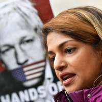 Rapper MIA supports Julian Assange at court a day before collecting MBE