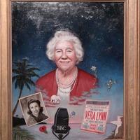 Dame Vera Lynn portrait goes on display at the Royal Albert Hall