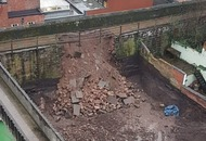 Section of Chester's ancient walls collapses