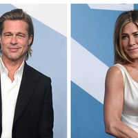 Brad Pitt and Jennifer Aniston reunite backstage at SAG Awards