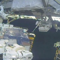 All-female spacewalking team finishes battery repair job on space station