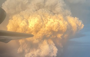 Passenger snaps Taal volcano eruption from aeroplane