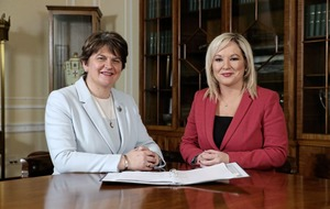 Arlene Foster and Michelle O'Neill have separate heads of joint press office