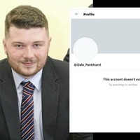 DUP councillor Dale Pankhurst appears to have deleted Twitter account