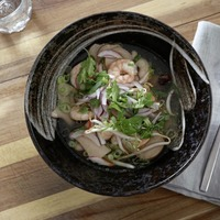 James Street Cookery School: Hot and sour prawn soup, spicy beef noodles with green beans