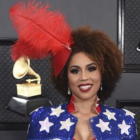 Singer Joy Villa wears another pro-Trump outfit at the Grammys