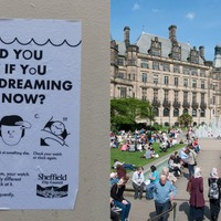 'Would you know if you were dreaming?': Mysterious posters appear in Sheffield