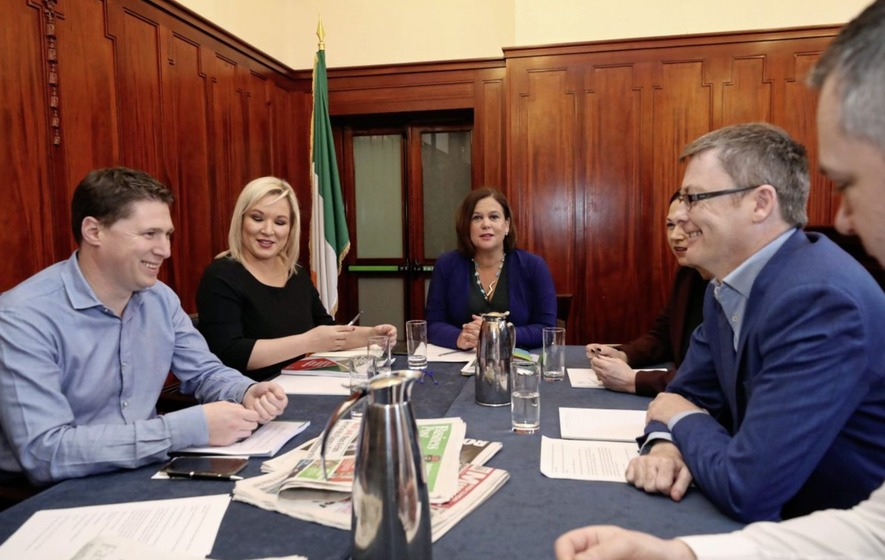 Irish election: Pro-IRA song played from Sinn Féin van