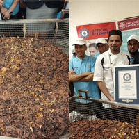 Record for world's largest onion bhaji broken in east London