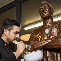 Chocolatier creates life-size sculpture of Cristiano Ronaldo