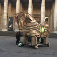 Activists in BP Trojan Horse protest at British Museum