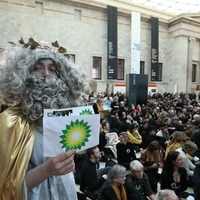 Hundreds of climate activists protest at British Museum over BP sponsorship