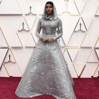 Janelle Monae dazzles in futuristic dress on Oscars red carpet