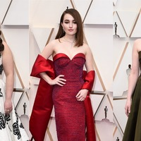 Old Hollywood glamour rules elegant Oscars red carpet
